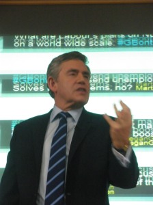 Gordon Brown speaks at the international development #GBontheRoad event, Saturday 17th April.