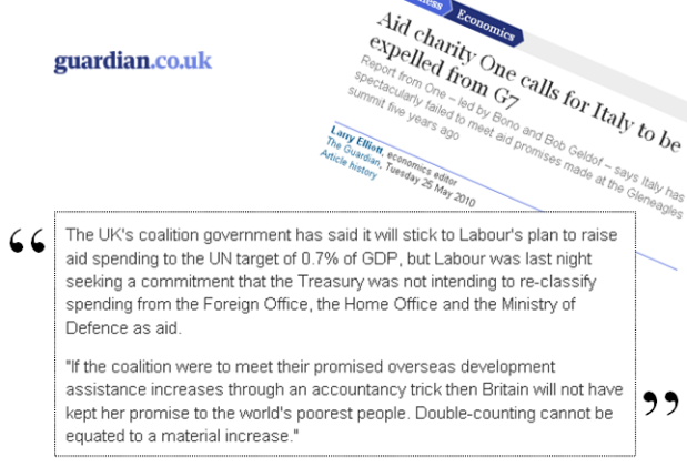 Article noting our letter to the Treasury