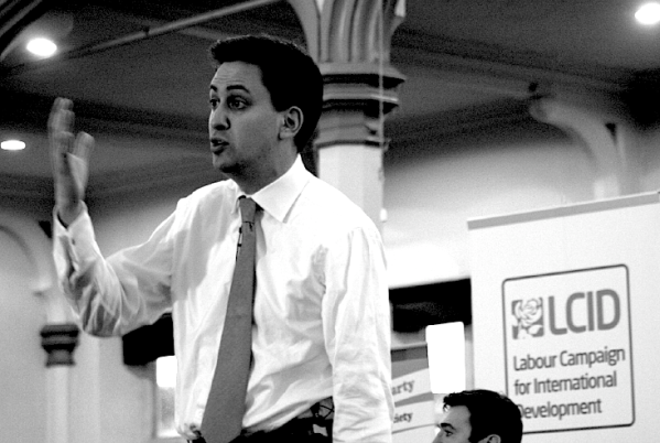 Ed Miliband at the Labour in the World Hustings