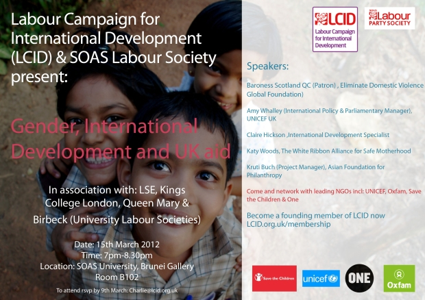 LCID & SOAS International Development Flyer