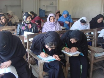 OPAWC literacy class underway in Kabul