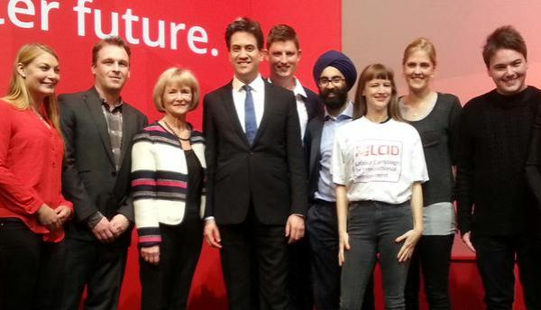 The LCID Exec with Ed Miliband and our Honorary Co-President Glenys Kinnock