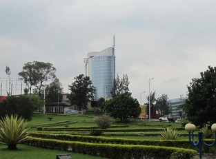 Skyscrapers in downtown Kigali